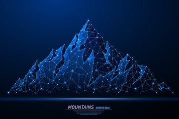 Abstract polygonal light of mountains