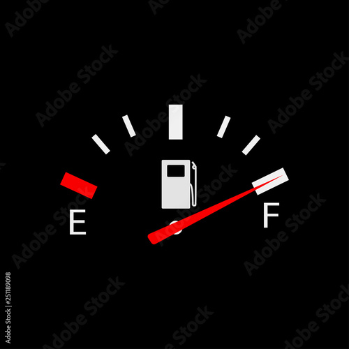 Vector illustration for fuel gauge full EPS 10