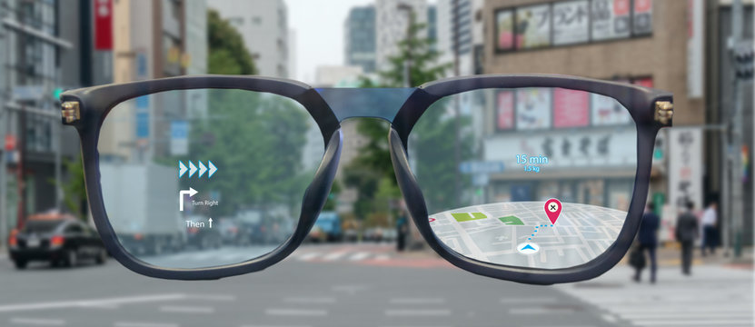 map use ai, artificial intelligence algorithms to determine what individuals want to see When GPS location service are turned on and the Maps app is opened ,popups that can direct the user to landmark