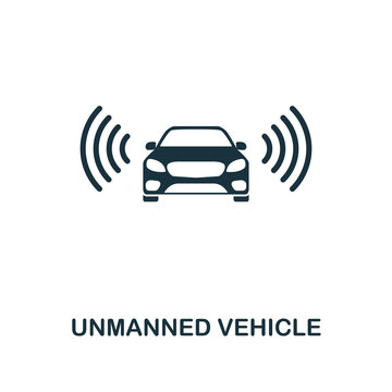 Unmanned Vehicle icon. Premium style design from future technology icons collection. Pixel perfect Unmanned Vehicle icon for web design, apps, software, print usage