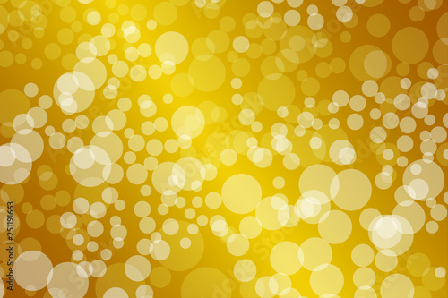 Golden Bokeh lights gradient background template