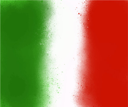 green white red spray paint background flag