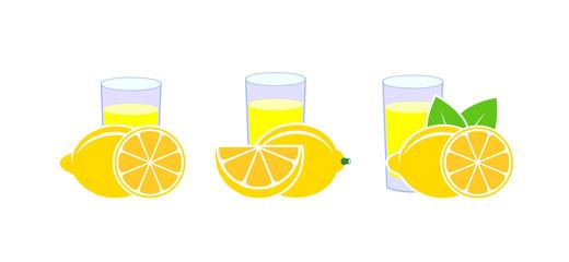 Lemon Juice. Isolated lemon on white background