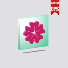 Sakura Japanese flower isometric icon.Vector illustration.