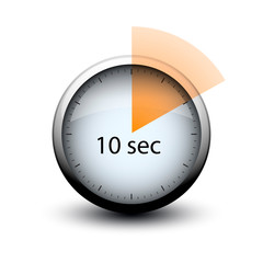 stopwatch with expiring time 10 seconds web icon