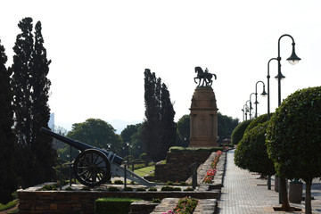 Cannon And Monument At Union Buildings Of South Africa