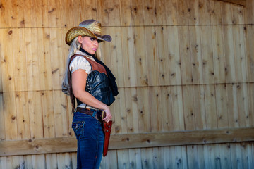 Blonde Cowgirl In The American Southwest 432d03d42b7c