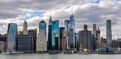 Skyline from Brooklyn Heights in Brooklyn, New York, USA