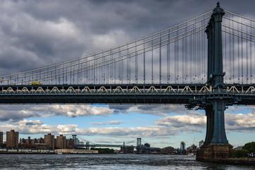 Manhattan Bridge in Brooklyn, New York, USA