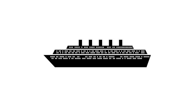 Cruise ship silhouette icon. Element of ship icon. Premium quality graphic design icon. Signs and symbols collection icon for websites, web design, mobile app