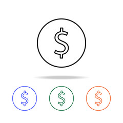 cent icon. Elements of simple web icon in multi color. Premium quality graphic design icon. Simple icon for websites, web design, mobile app, info graphics