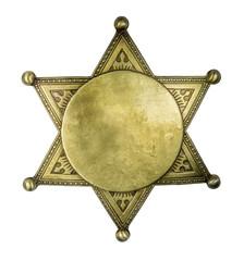 Isolated Blank Sheriff Style Badge
