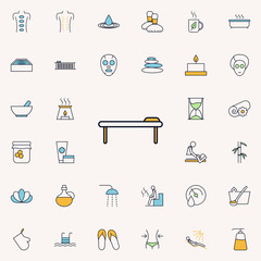 a massage table outline icon. spa icons universal set for web and mobile