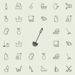 toilet brush icon. Cleaning icons universal set for web and mobile
