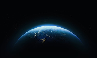 Planet Earth in outer space. Civilization. Elements of this image furnished by NASA Fotomurales