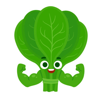 Funny spinach character