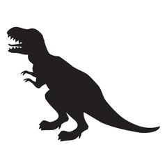 T-rex silhouette vector illustration image