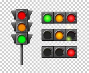 Street traffic light icon lamp. Traffic light direction regulate safety symbol. Transportation control warning