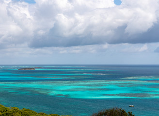 Saint Vincent and the Grenadines, Mayreau, Tobago Cays view