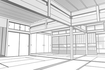 日本家屋(屋内)