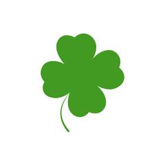 Clover icon, Patricks Day symbol, graphic design template, four leaf, vector illustration