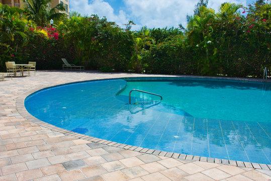 Empty Resort Swimming Pool - Social Distancing - Covid