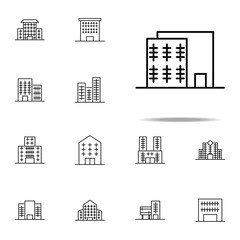 Building icon. Building icons universal set for web and mobile