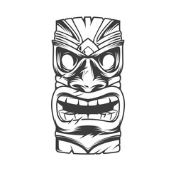 Hawaiian traditional tribal tiki mask