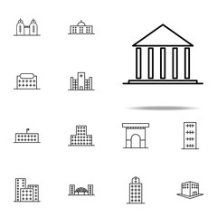 Building, court icon. Building icons universal set for web and mobile