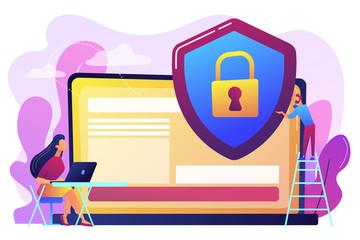 Data privacy concept vector illustration.