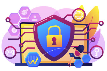 Privacy engineering concept vector illustration.