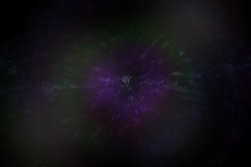 星雲と天の川のCG