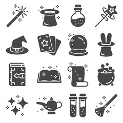 Simple Set of Magic Related Vector Icons