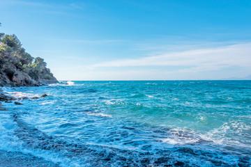 Southern Italian Mediterranean Coast on a Windy Day