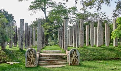 Thuparama stupa site in Anuradhapura - Sri Lanka Wall mural