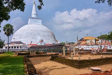 Ruwanwelisaya stupa in Anuradhapura - Sri Lanka..