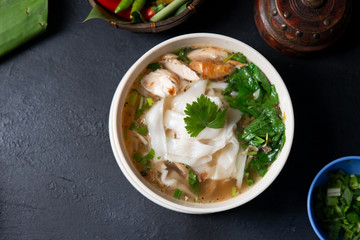 Chicken Kway Teow Soup