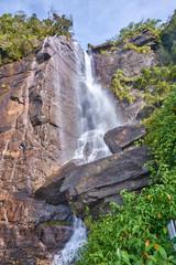 Lovers leap waterefall in  Nuwara Eliya (Sri Lanka)
