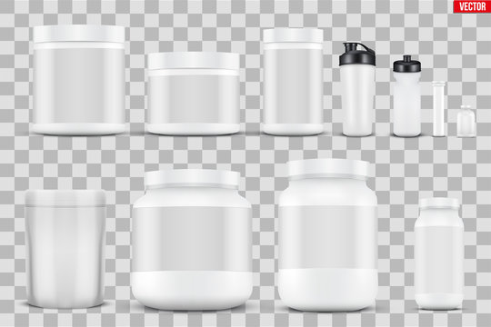 Set Mockup Sport Nutrition Containers