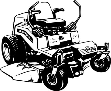Lawn Mower Vector Illustration