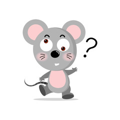 vector concept cute mouse, Vector concept illustration for design.