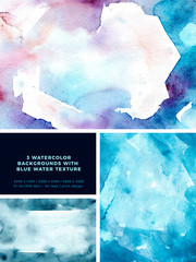 Watercolor shimmer texture in abstract style. Natural hand drawn banner. Abstract dark background. Abstract art pattern. Water texture set. Watercolor effect. Ink marble texture.