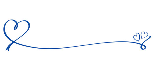 Heart shaped blue ribbon