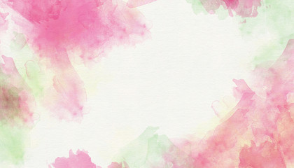 Pink green abstract watercolor background