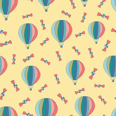 Cute ballons modern kids pattern design