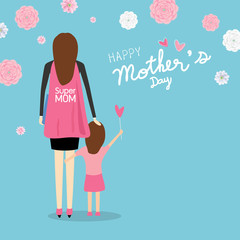 Happy mother's day vector illustration