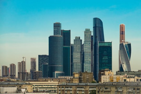 """International Business Center """"Moscow City"""". This is a zone of business activity that will combine business, apartment accommodation and leisure"""