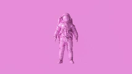 Pink Spaceman Astronaut Cosmonaut 3d illustration 3d render