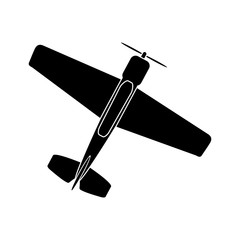 Single-engine propeller aircraft, simple pattern