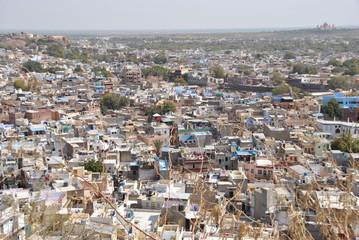 View over Jodhpur seen from Mehrangarh fort in India